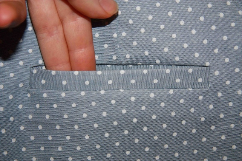 Single Welt Pocket 1