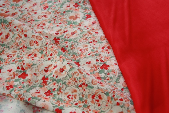 Liberty Love and Red Habutai from The Cloth Shop