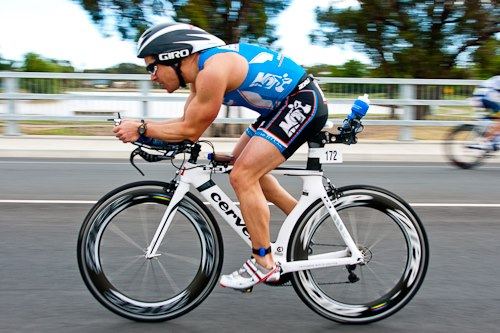 Mr poppykettle competing in the Shepparton Half Iron Man, 2012