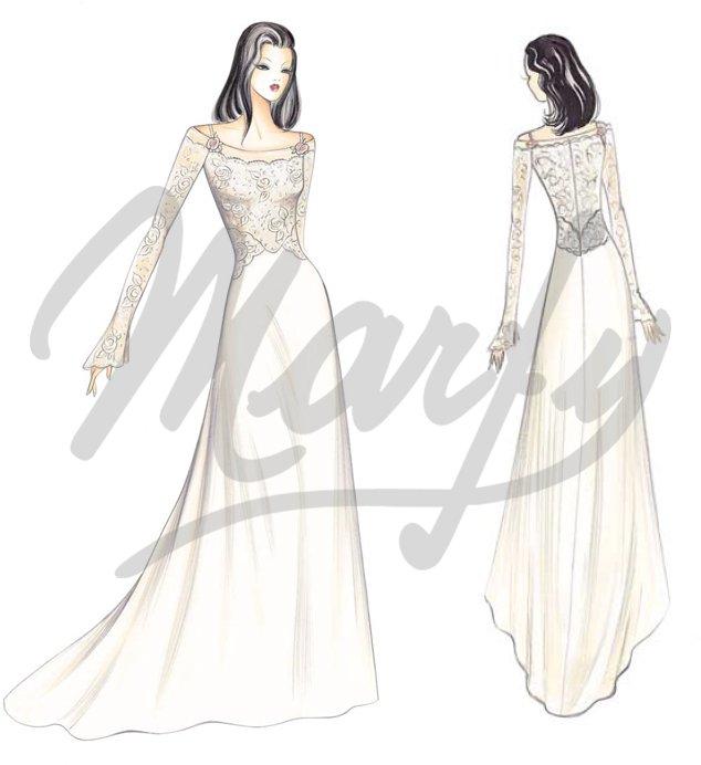 S655 Wedding Dress (skirt) pattern