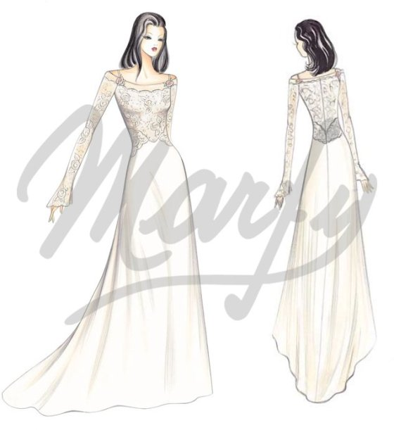 S655 Wedding Dress (skirt) pattern