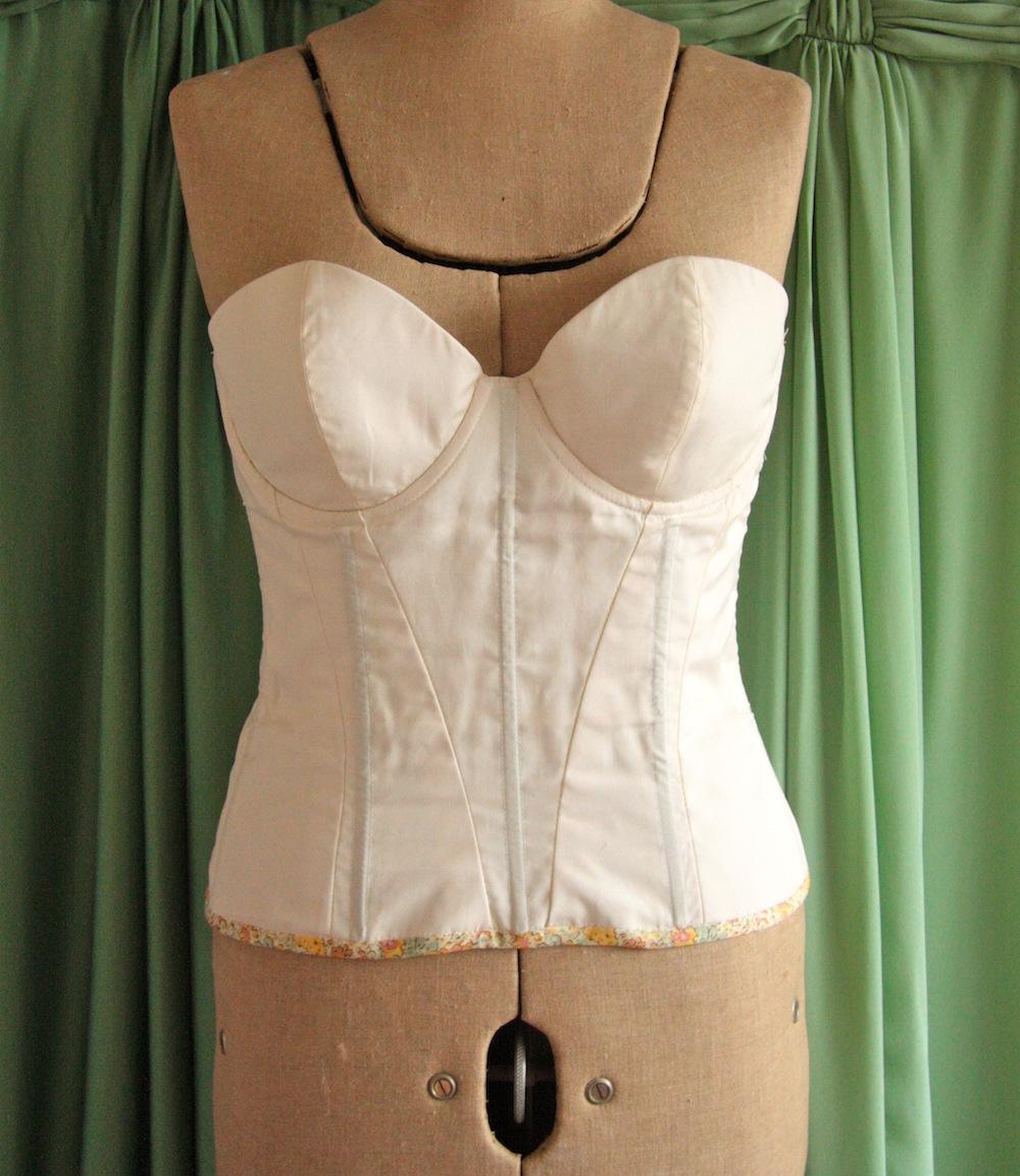 Wedding dress corset bra gallery of pink ball gown for Wedding dress corset bra