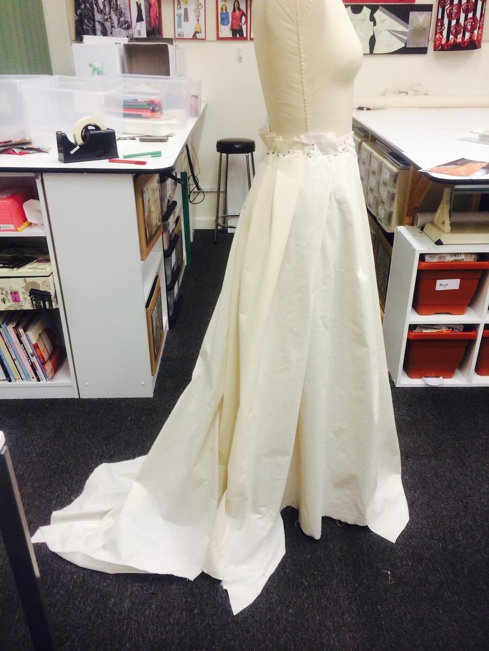 Adjusted skirt S655 muslin #1, Dec 2013